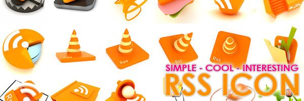 シンプルなものからリアルな凝ったものまで、様々な種類の800の無料RSSアイコン