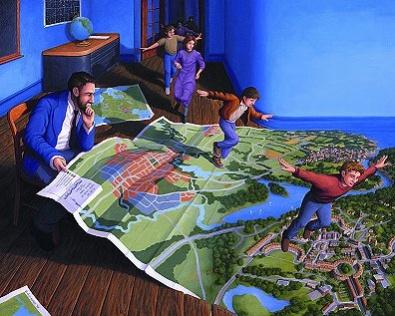 芸術家Rob Gonsalvesさんのファンタスティックで錯覚におちいってしまうだまし絵(トリックアート)