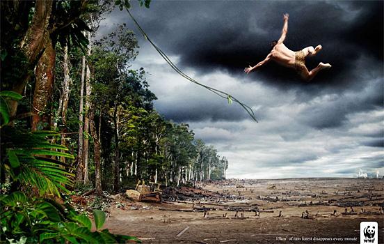 メッセージ性の強い、自然というものを考えさせてくれる、デザインされたWWF(世界自然保護基金)のキャンペーン用ポスター50作品