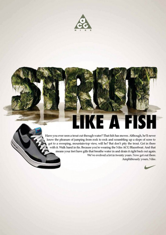 タイポグラフィを効果的に使用した広告デザイン